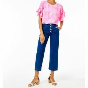Lilly Pulitzer Aileen Button Front Jeans